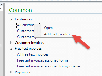 Making a saved query a favorite in Dynamics AX – Dynamic Consulting