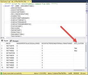 D365 custom field showing in SQL