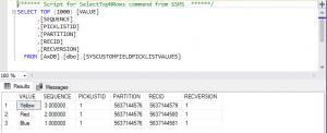SysCustomFieldPicklistValues showing custom fields in SQL