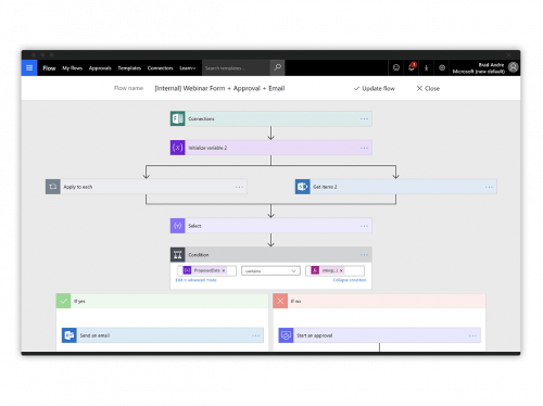 no code app automation with microsoft flow