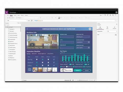 microsoft powerapps app canvas