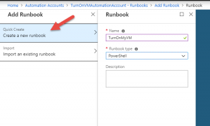 Naming the Azure runbook