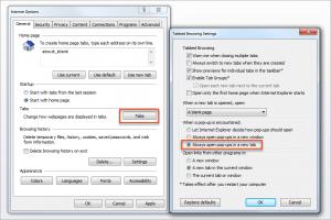 D365CE - internet explorer pop-up settings
