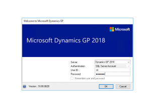 Logging into Dynamics GP