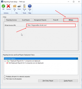 Dynamics GP reporting tools setup