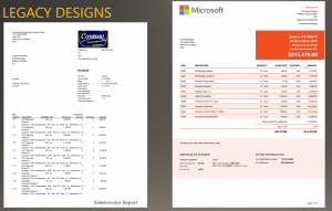 dynamics 365 for finance and operations modern report design legacy vs modern