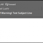 Spoofed email warnings with Office 365