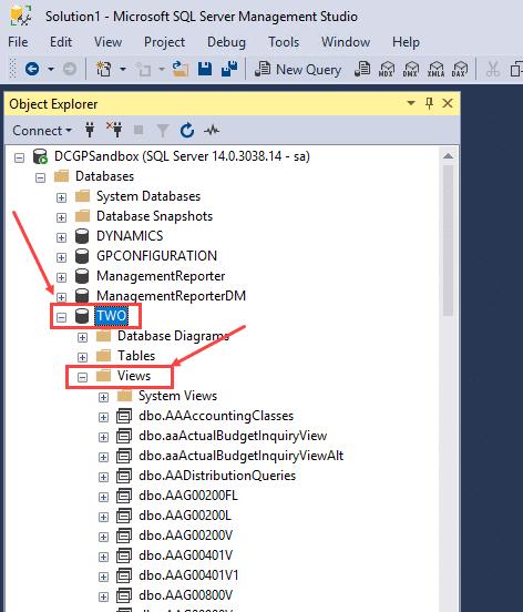 SQL Explorer Views