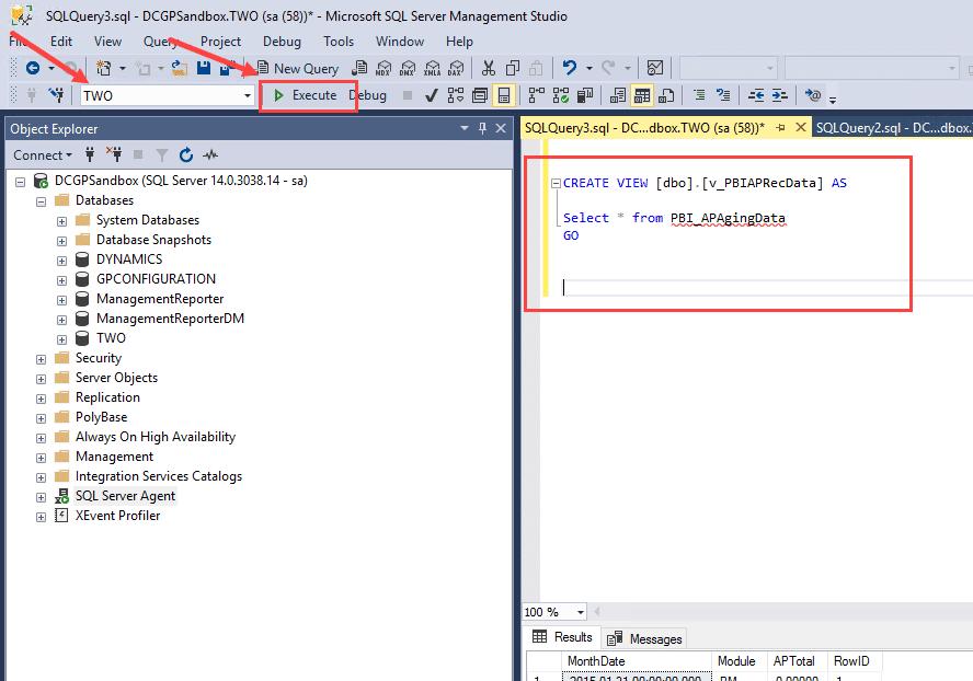 SQL Execute Query