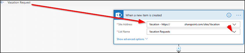 Microsoft Flow - When a new item is created