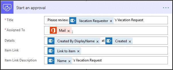 Microsoft Flow - Start an approval