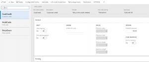 d365 retail price override info codes