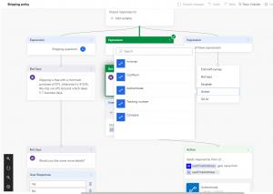 Dynamics 365 Customer Engagement Virtual Agent canvas Microsoft Flow