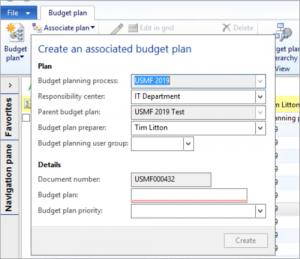 Associated Budget Plans