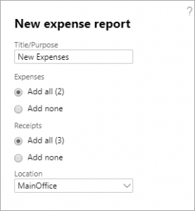 New Expense Report