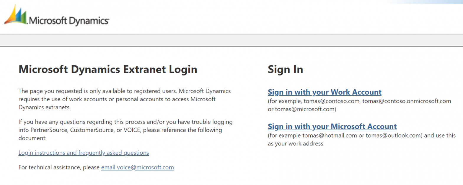 Microsoft Account Issues (Live ID, PartnerSource