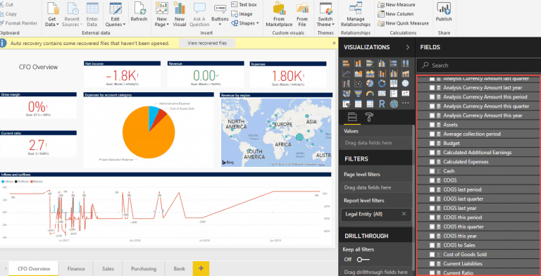 Dynamics 365 Finance and Operations embedded Power BI report