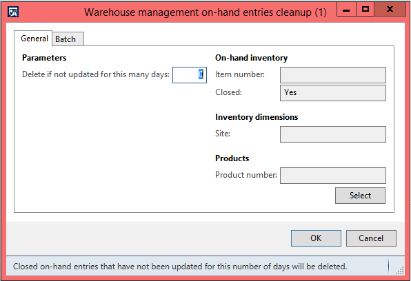Warehouse management on-hand entries cleanup in AX 2012