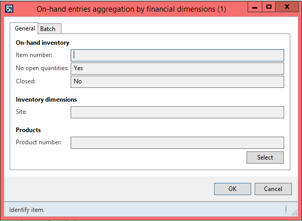 On-hand entries aggregation by financial dimensions AX 2012
