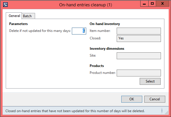 On-hand entries cleanup in AX 2012