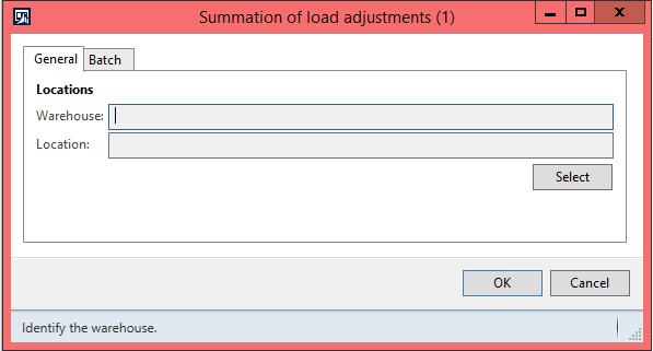 Summation of load adjustment form