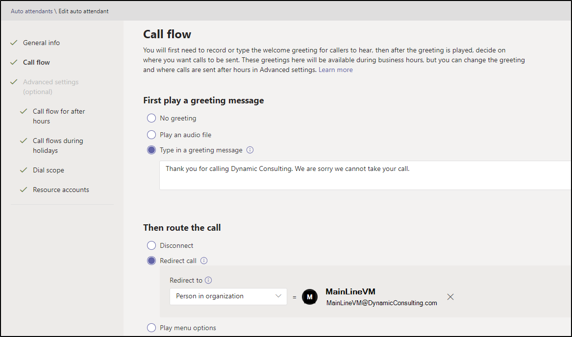 Updated Call Flow