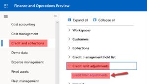 Creating a new credit limit adjustment