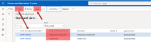Types of credit limit adjustments