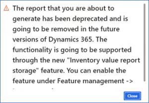 Dynamics 365 for Supply Chain Error