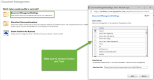 document management wizard to create folders