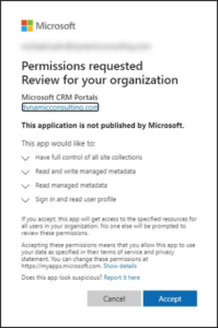 sharepoint integration from power apps portal