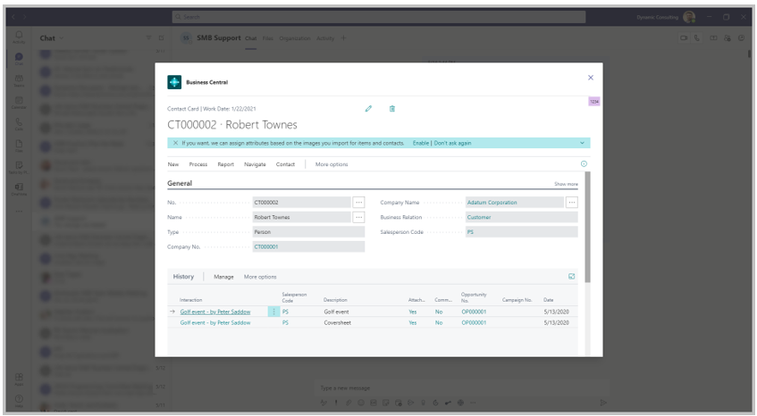 New features for Business Central